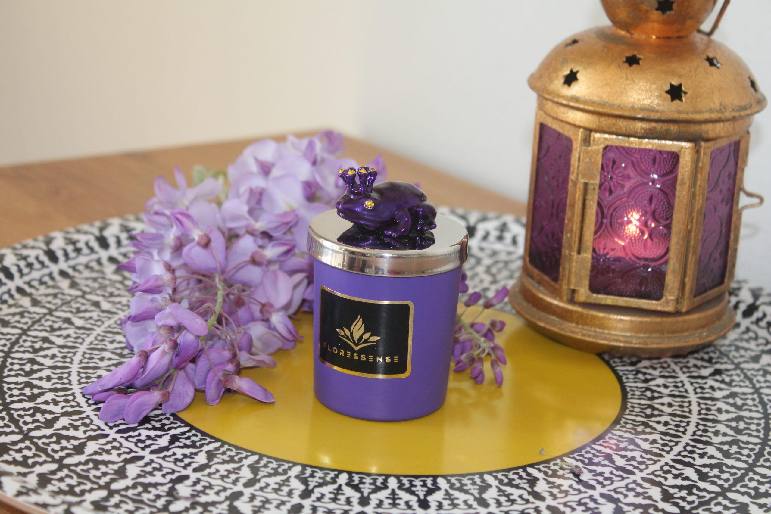 Floressense - bougie odorante luxe - Grenouille violet