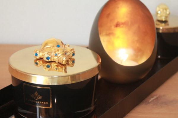 Floressense - bougie parfumée luxe - bougie bijou luxe - bougie décorative luxe - éléphant or