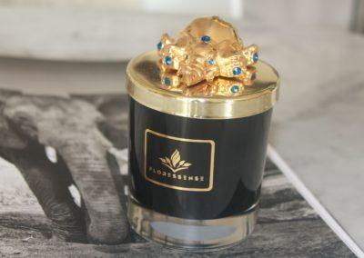 Floressense - bougie bijou luxe - elephant or