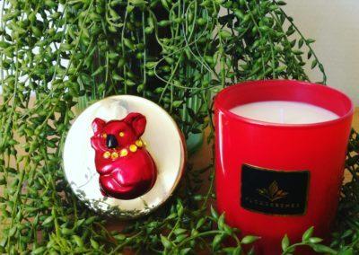Floressense - bougie bijou luxe - koala rougeougie décorative luxe - koala rouge