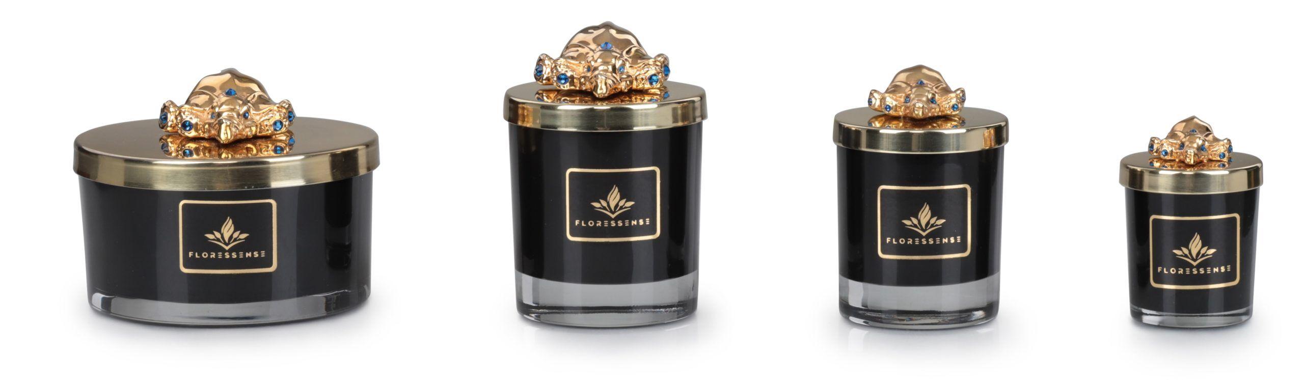 Floressense - bougie bijou luxe - éléphant or