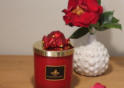 Floressense - bougie bijou luxe - elephant rouge