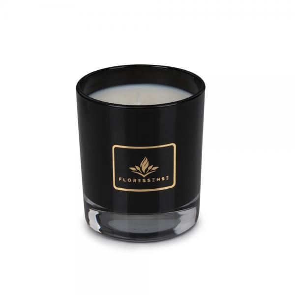 Floressense - bougie parfumée luxe - bougie bijou luxe - bougie décorative luxe - verre noir 240g