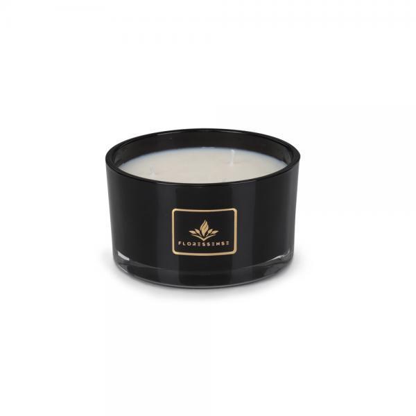 Floressense - bougie parfumée luxe - bougie bijou luxe - bougie décorative luxe - verre noir 400g