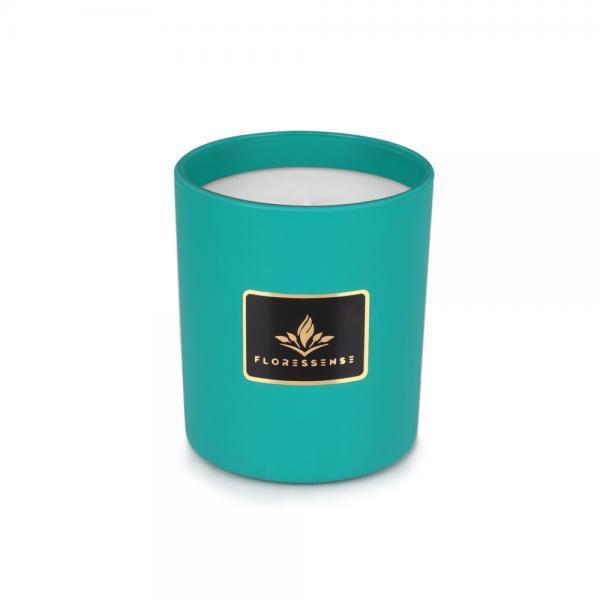 Floressense - bougie parfumée luxe - bougie bijou luxe - bougie décorative luxe - verre turquoise 240g