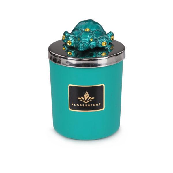 Floressense - bougie parfumée luxe - éléphant turquoise