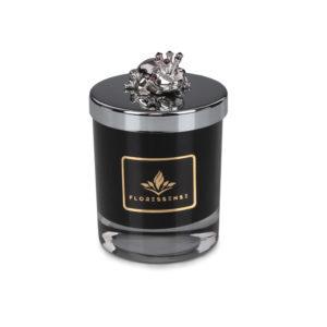 Floressense - bougie parfumée luxe - grenouille argent