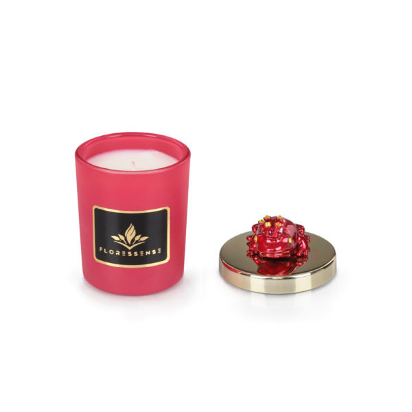Floressense - bougie parfumée luxe - grenouille rouge