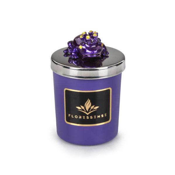 Floressense - bougie parfumée luxe - grenouille violet