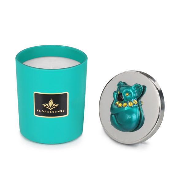 Floressense - bougies parfumées luxe - koala turquoise
