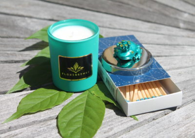 floressense - bougie bijou luxe - grenouille turquoise