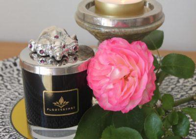 Floressense - bougie bijou luxe - éléphant argent
