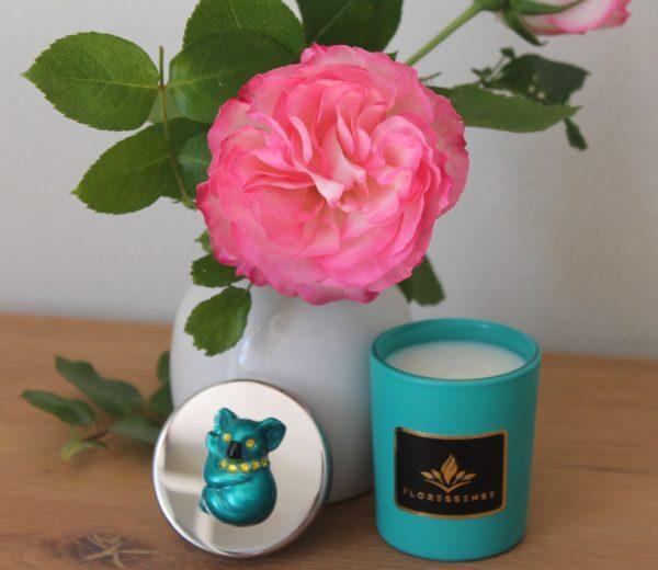 Floressense - Bougie parfumée luxe - koala turquoise