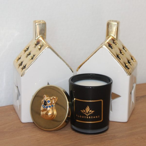 floressense - bougie décorative luxe - bougie parfumée luxe - bougie bijou luxe - Koala or 80g