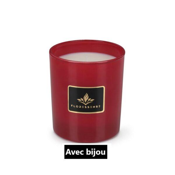 Floressense - Bougie parfumée avec bijou - rouge