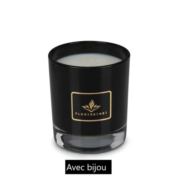 Floressense - Bougie parfumée - noir avec bijou